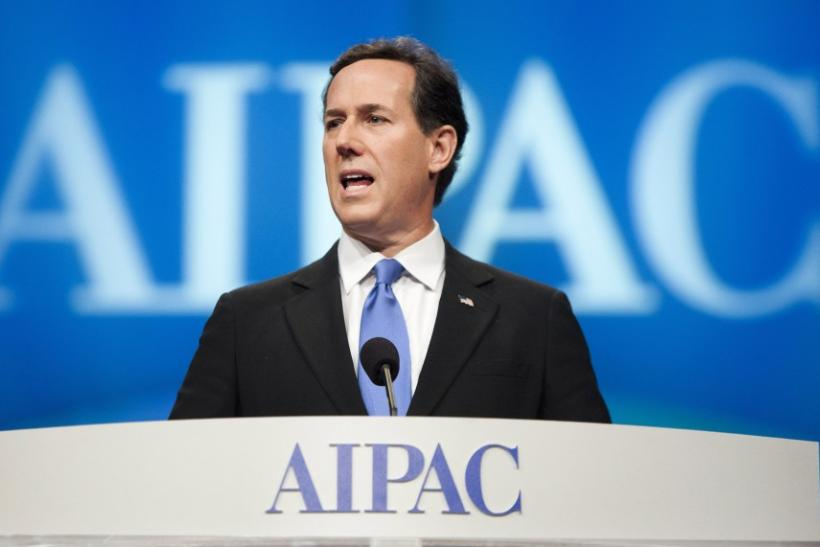 Santorum At AIPAC 2012: Iran Is 'Most Radical Regime In World'