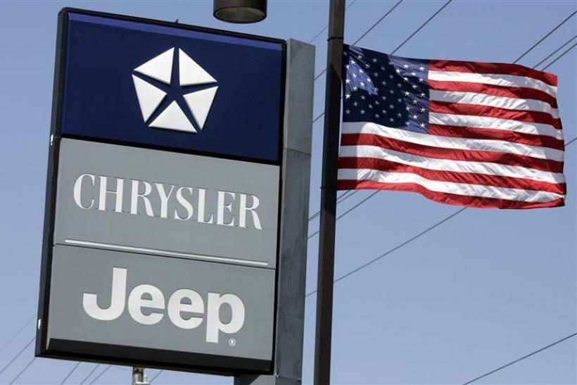 Chrysler Monicatti Motors auto dealership is seen in Sterling Heights, Michigan