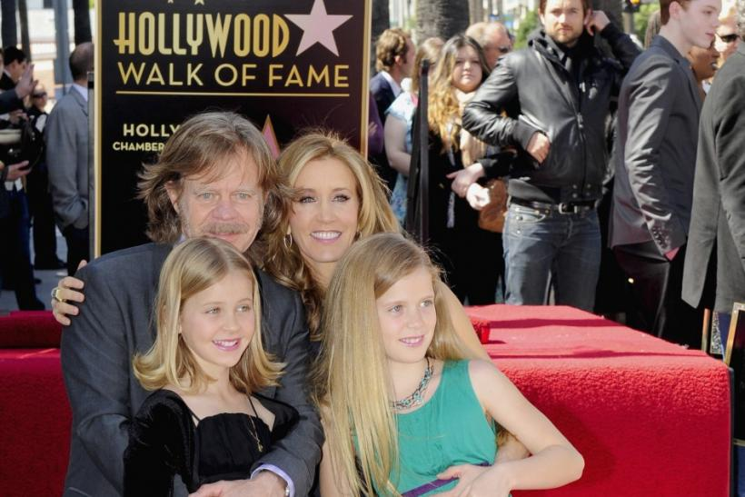 Felicity Huffman, William H. Macy and daughter