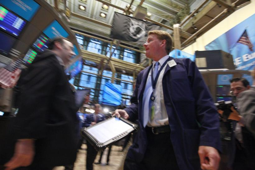Traders on the New York Stock Exchange floor