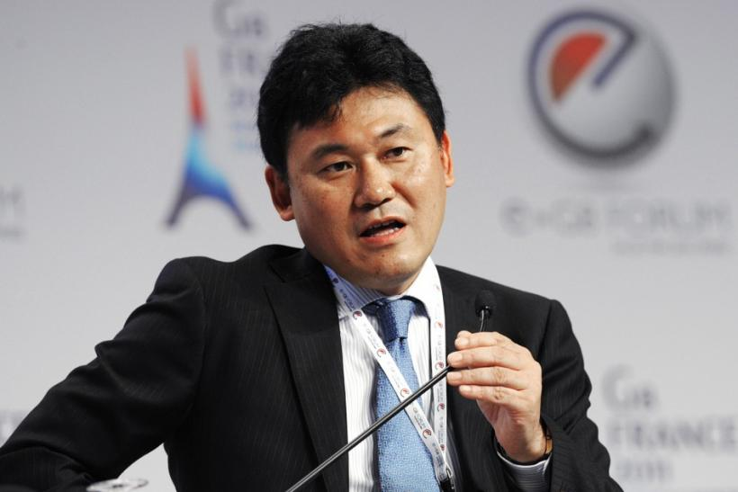 Rakuten CEO Hiroshi Mikitani attends the eG8 forum in Paris