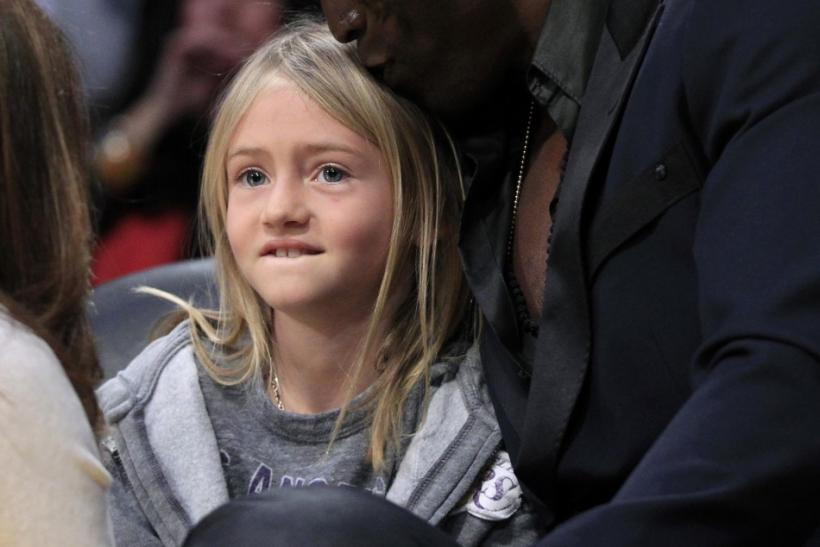 Celebrities at the Los Angeles NBA Basketball Game