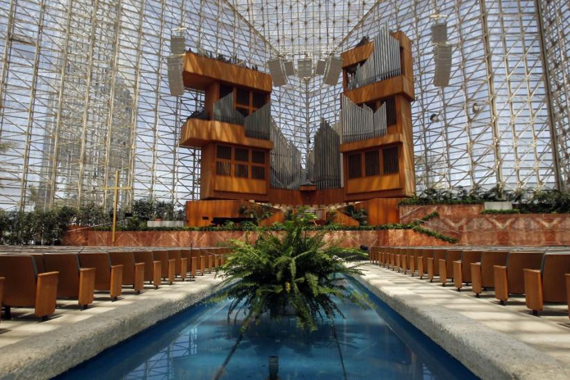A view of the interior of the Crystal Cathedral in Garden Grove