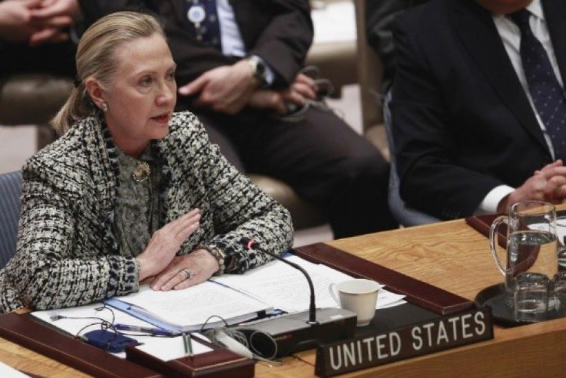 Clinton UN talks Tough