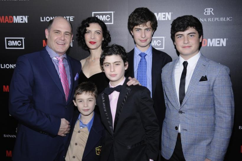 Matthew Weiner and family