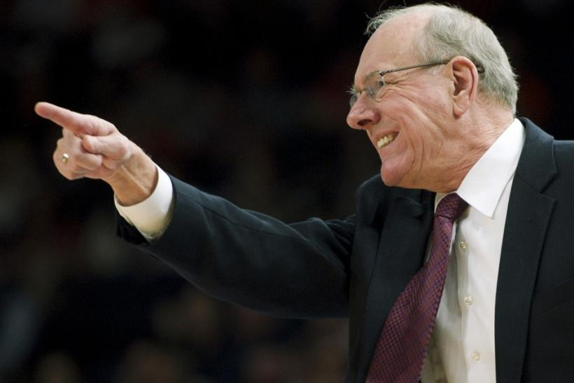 Jim Boeheim and Syracuse were knocked out after one win in the NCAA Tournament last year.