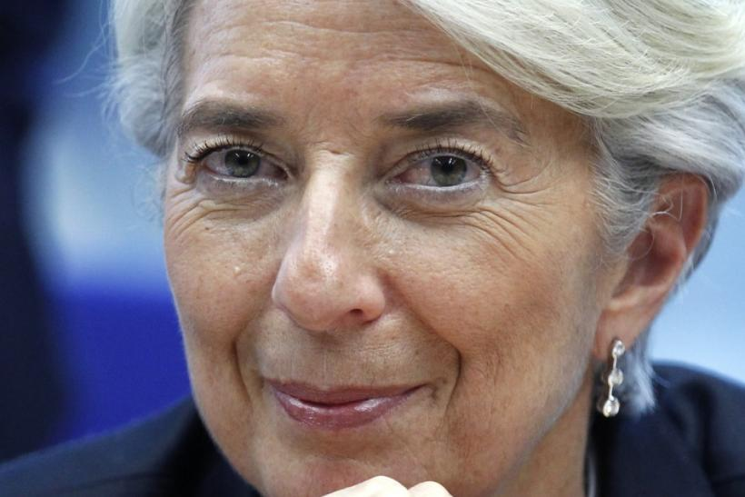 IMF Managing Director Christine Lagarde attends a Eurogroup meeting ahead of a two-day EU leaders summit in Brussels March 1, 2012.