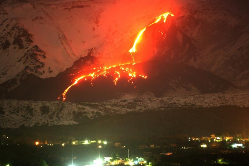 Mount Etna's Eruption in 2005