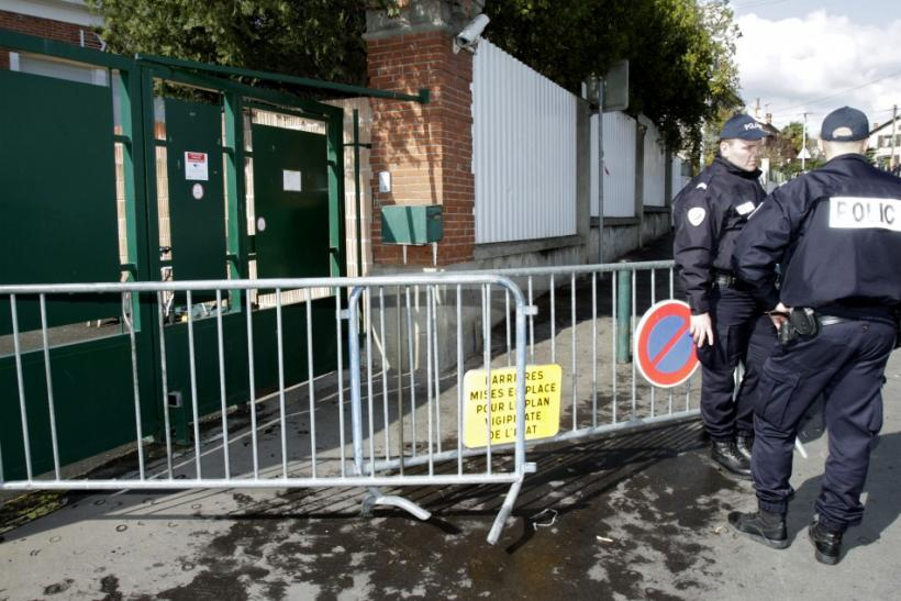Police stand guard outside Ozar Hatorah Jewish school in Toulouse, southwestern France