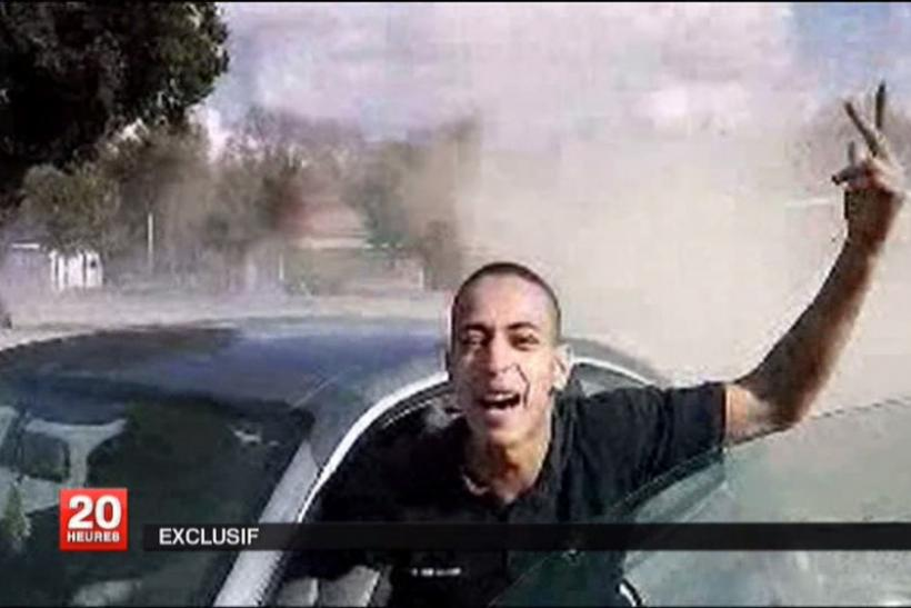 An undated and non-datelined frame grab broadcast by French national television station France 2 who claim it shows Mohamed Merah