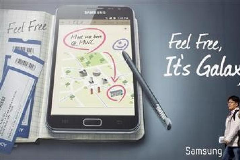 Samsung Galaxy Tablet Advertisement