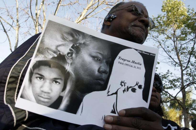 A demonstration for Trayvon Martin