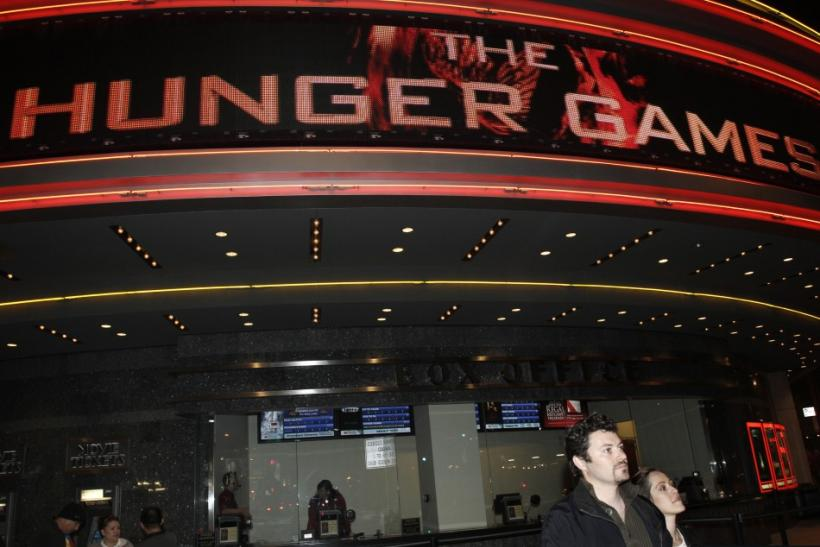 "The Regal Cinemas is seen during the opening night of ""The Hunger Games"" in Los Angeles, California March 22, 2012."