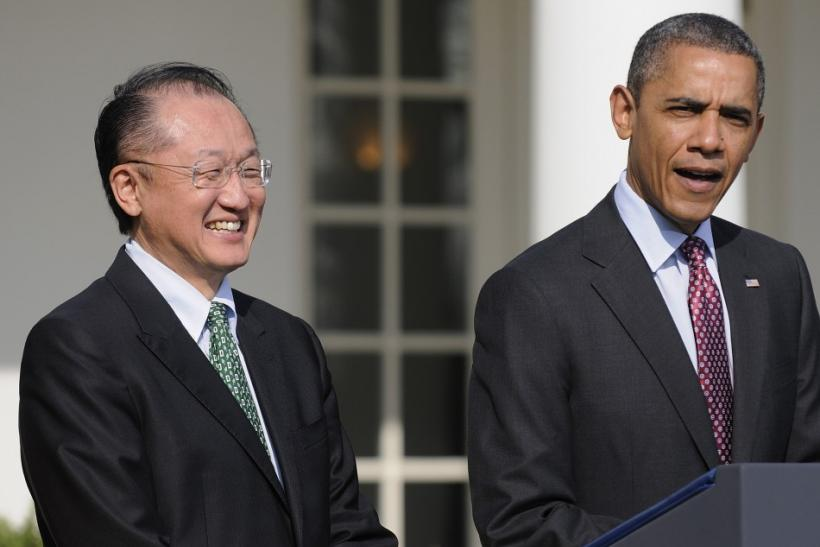 Jim Yong Kim, President Barack Obama -- White House Rose Garden, Friday, March 23, 2012