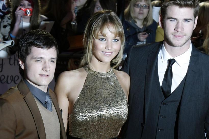 """The Hunger Games"" behind the scenes: sex and drugs in NC. Pictured left to right: Josh Hutcherson (Peeta), Jennifer Lawrence (Katniss) and Liam Hemsworth (Gale)."