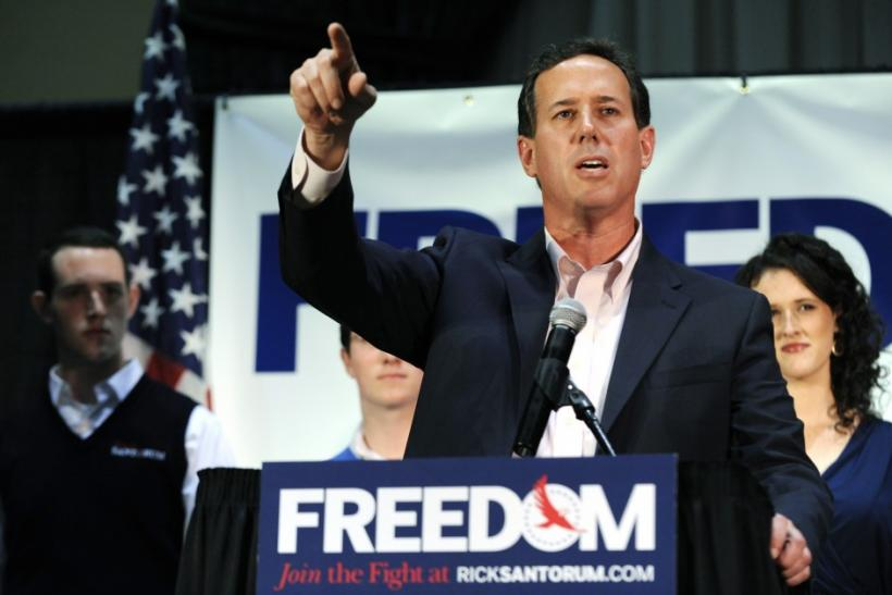 "Rick Santorum Curses Out Reporter, Vows to ""Take On"" New York Times"