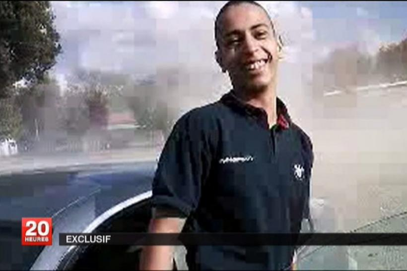 An undated and non-datelined frame grab from a video broadcast by French national television station France 2 who claim it shows Mohamed Merah.