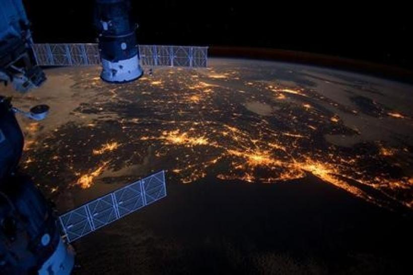 Nighttime view from the International Space Station shows the Atlantic coast of the United States in this NASA handout image dated February 6, 2012.