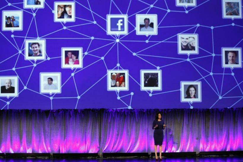 "Facebook Chief Operating Officer Sheryl Sandberg delivers a keynote address at Facebook's ""fMC"" global event for marketers in New York City"