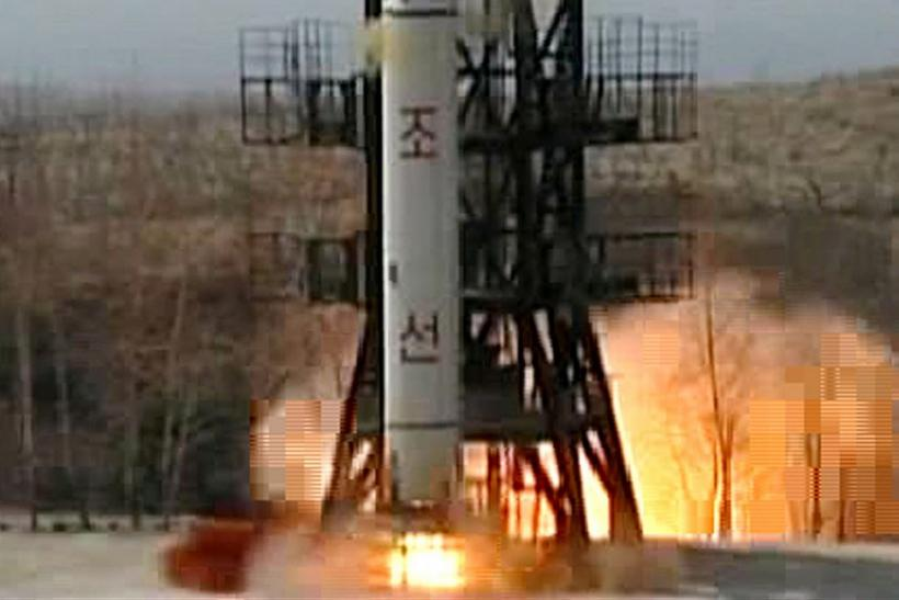 A Taepodong-2 rocket is launched from the North Korean rocket launch facility in Musudan Ri in 2009.