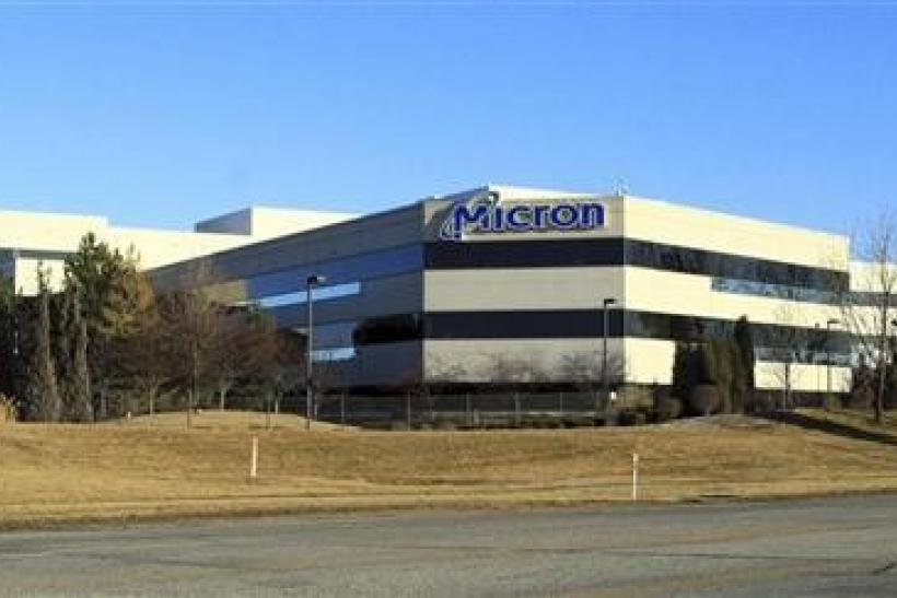 The main entrance to Micron corporate headquarters in Boise, Idaho, February 3, 2012.