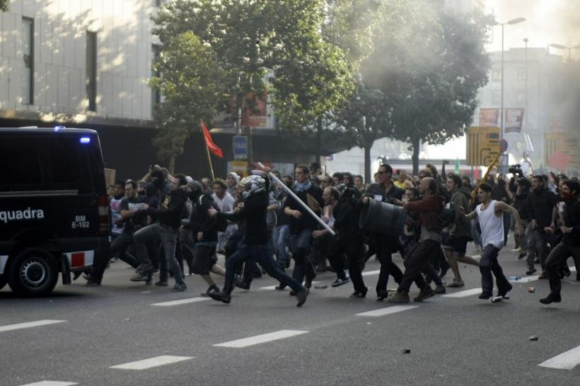 Protest in Barcelona
