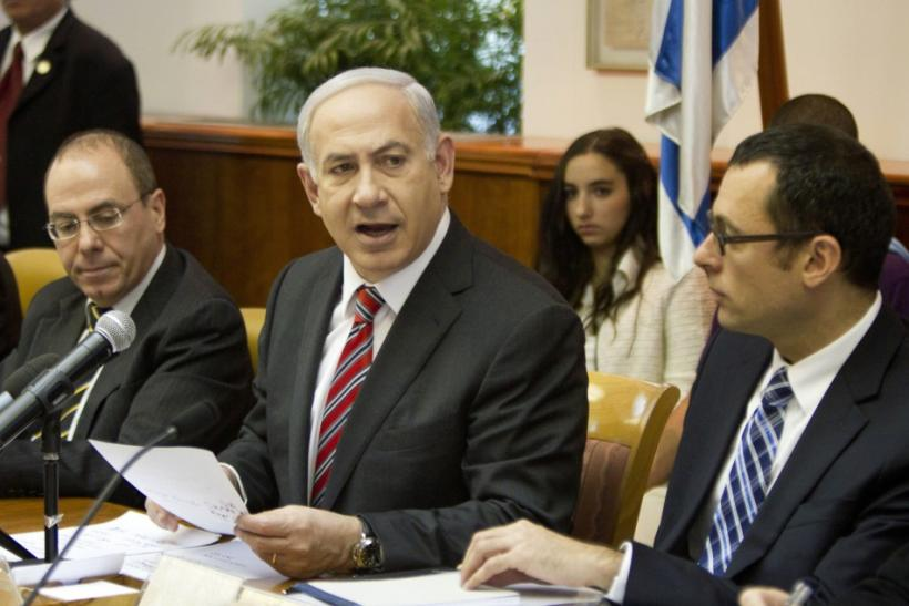 Israel's PM Netanyahu attends cabinet meeting in Jerusalem
