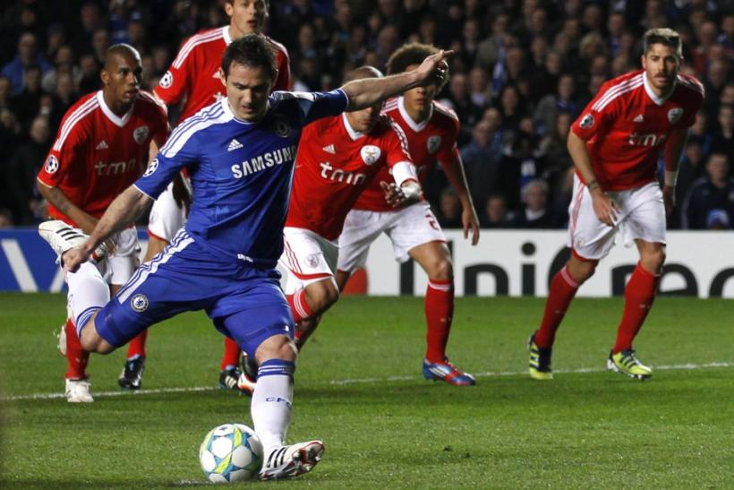 Watch highlights of Chelsea's victory over Benfica in the quarter-final second-leg of the Champions League.
