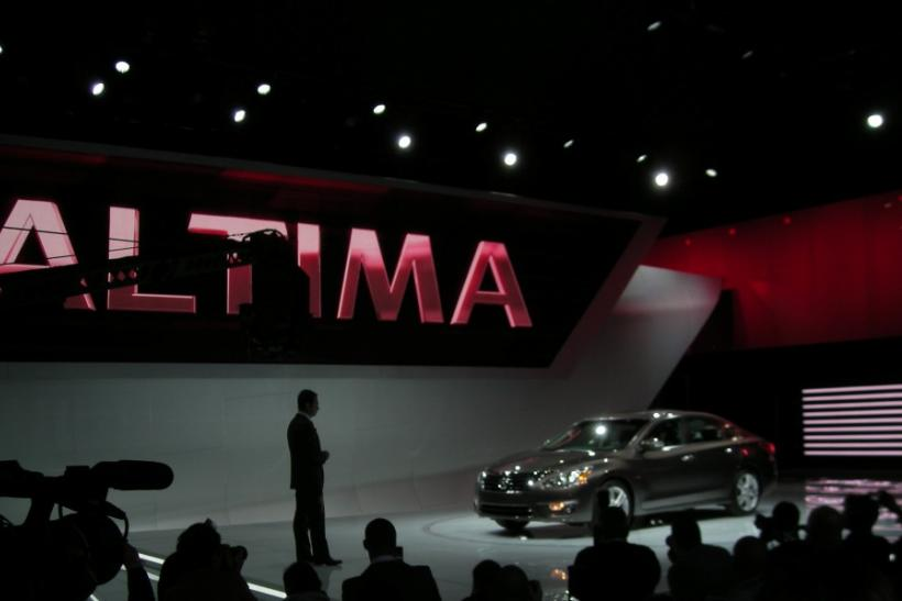 Nissan CEO Carlos Ghosn presents the 2013 Altima at the New York International Auto Show 2012.