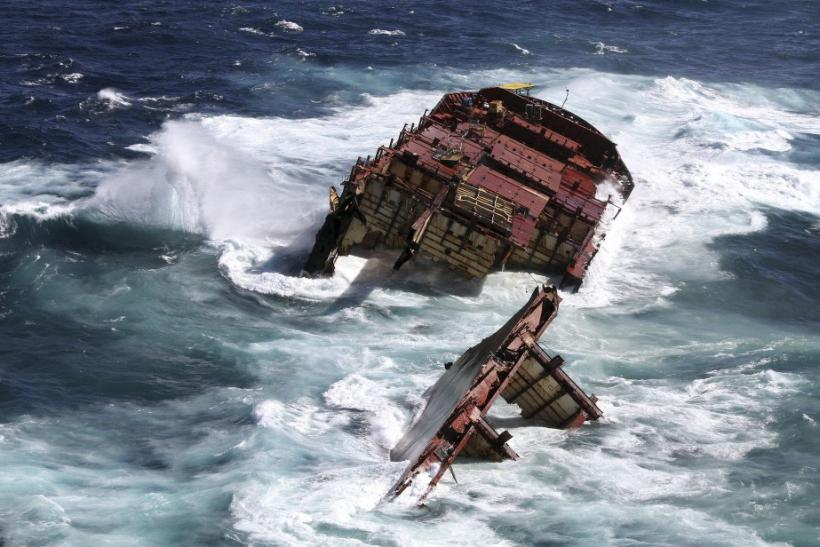 Container Ship Rena Sinking Off New Zealand Coast (PHOTOS)