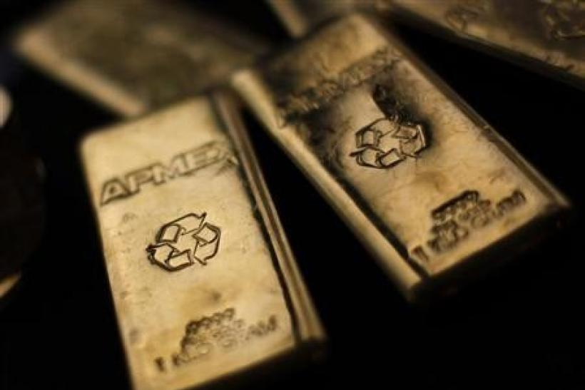 Gold Bullion from the American Precious Metals Exchange (APMEX) is seen in New York, September 15, 2011.