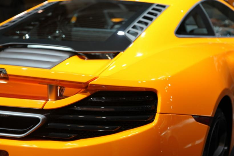 The rear of the McLaren MP4-12C at the New York International Auto Show 2012.