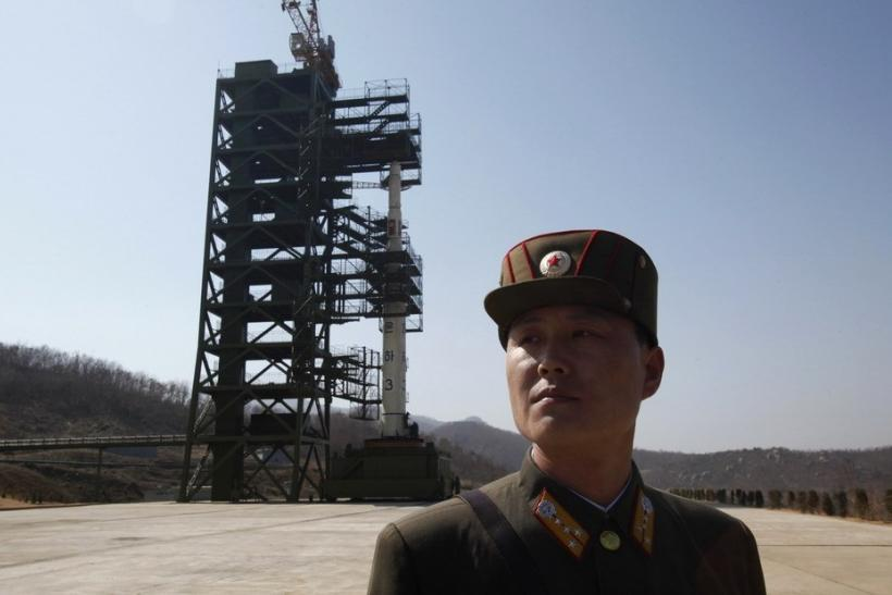 North Korean Soldier at Launch Site