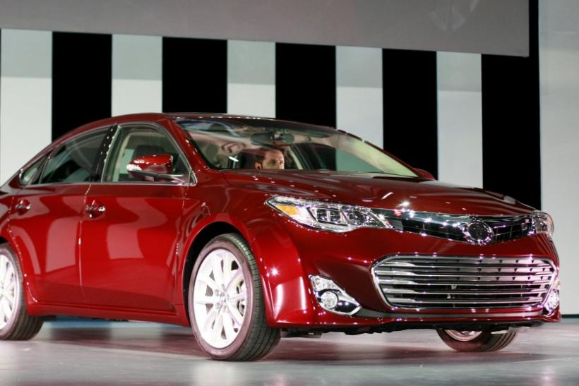 The 2013 Toyota Avalon is seen from the front at the 2012 New York International Auto Show