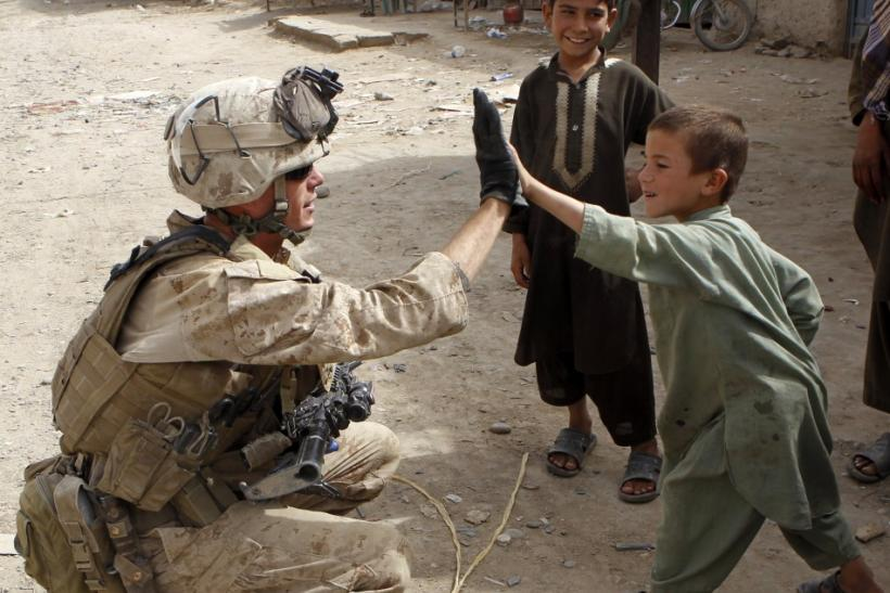 Marine, Afghan child