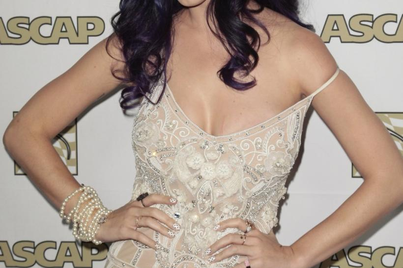 Singer-songwriter Katy Perry arrives at the 29th Annual ASCAP Pop Music Awards in Hollywood, California