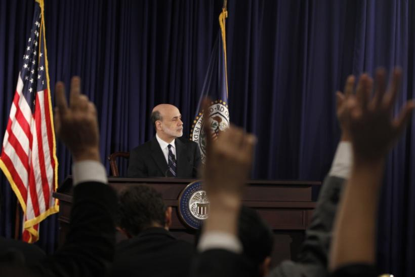 Federal Reserve Chairman Ben Bernanke faced a tough round of questions from reporters Wednesday