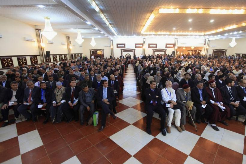 People attend the 9th Conference of the Muslim Brotherhood in Benghazi last year