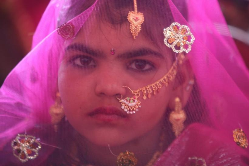 An Indian child bride