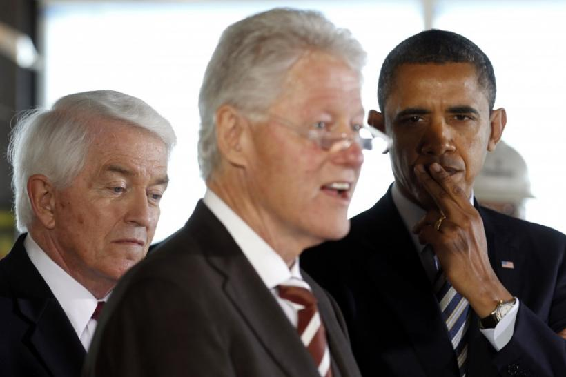 Bill Clinton and Barak Obama