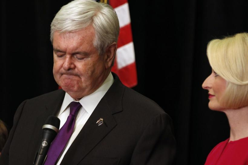 Newt Gingrich Drops Out of 2012 Race, Supports Romney