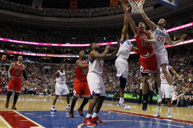 The Bulls and 76ers square off in game 4 this afternoon.