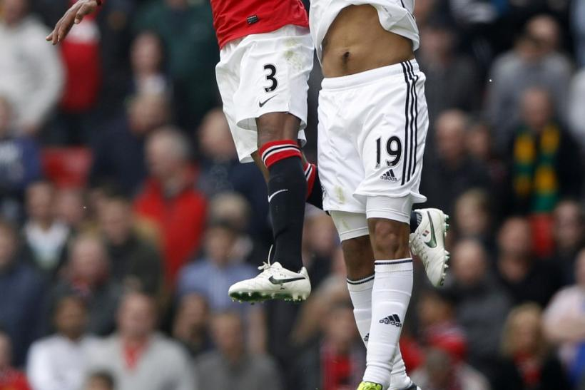Manchester United downed Swansea 2-0 on Sunday.