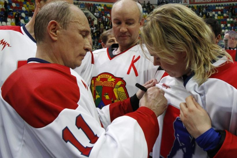 Putin hockey match