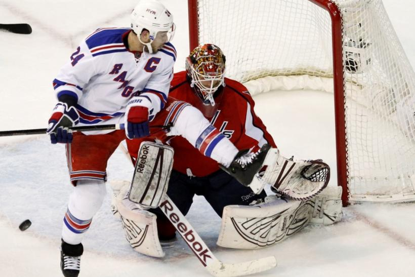 The Rangers take on the Capitals at 7:30 p.m. ET.