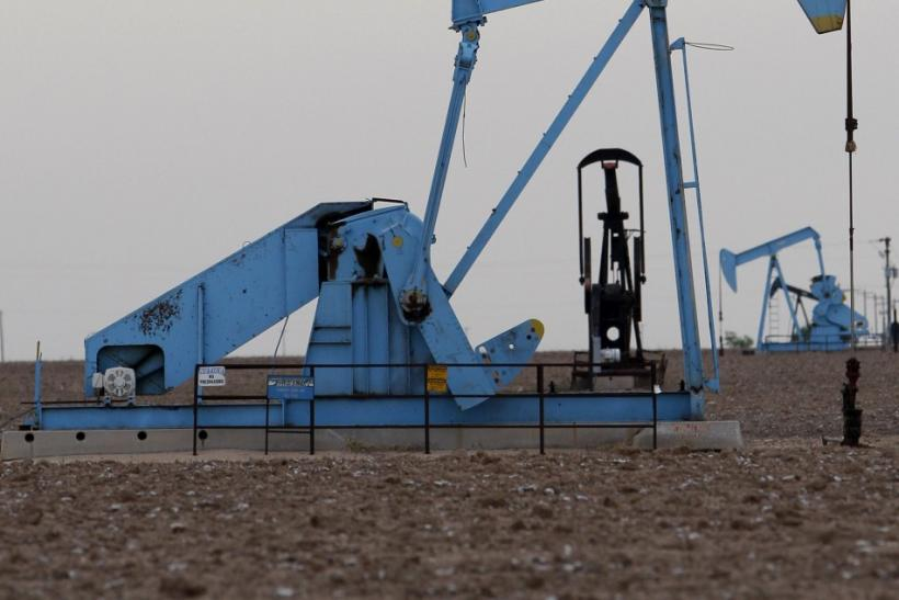 Oil rigs are seen in Midland, Texas