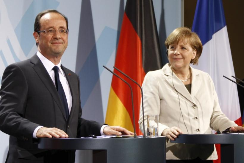 Hollande- Merkel Meeting in Berlin
