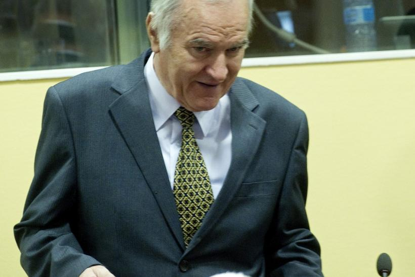 Bosnian Serb general Ratko Mladic