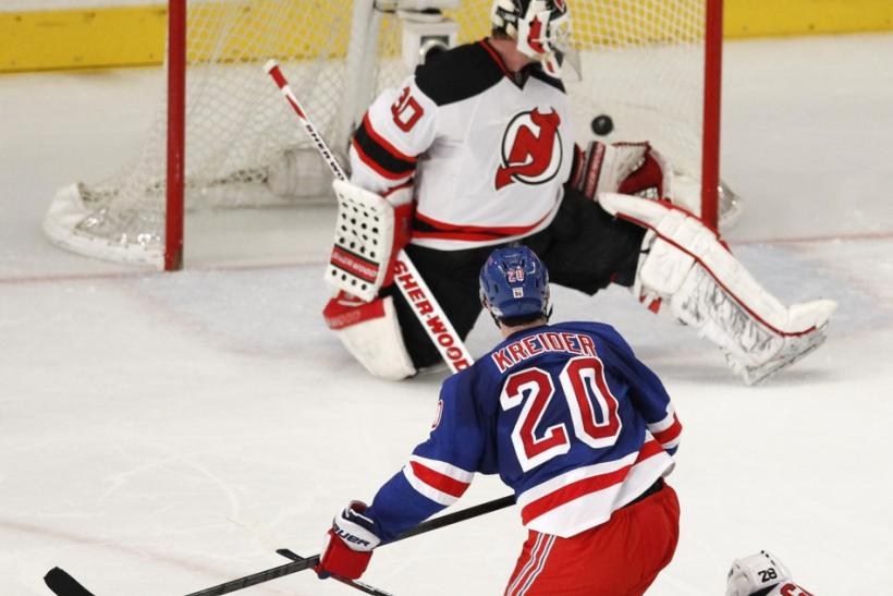 The Rangers take on the Devils at 8:00 p.m. ET.
