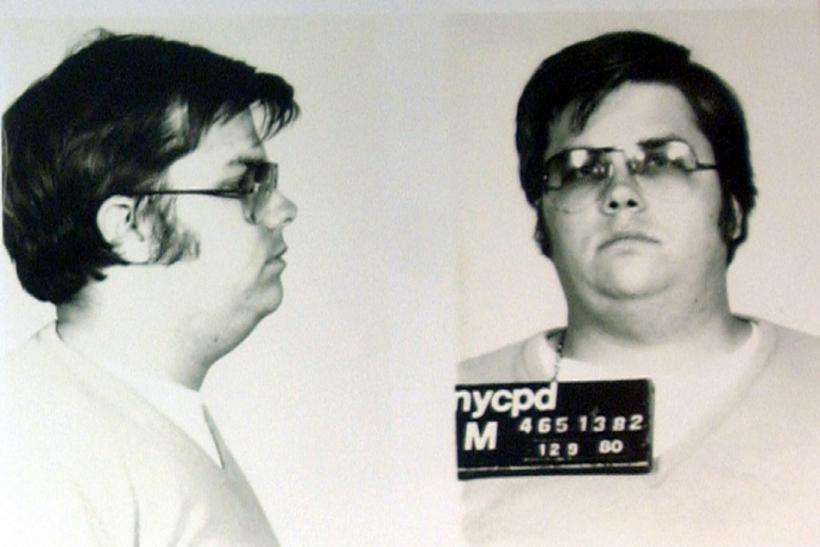 A mug-shot of Mark David Chapman, who shot and killed John Lennon, is displayed on the 25th anniversary of Lennon's death at the NYPD in New York December 8, 2005